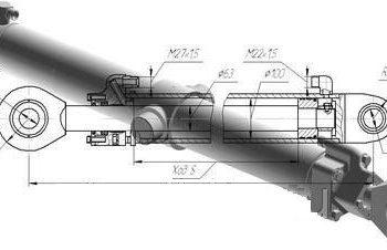 Гидроцилиндр выдвижения ДЗ-98В.43.04.000