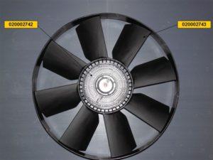 Вентилятор c вязкостной муфтой 20002741